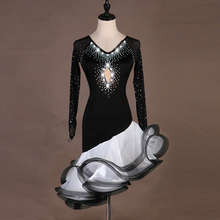Latin Competition Dance Skirt 2019 New High Quality Custom Made Rumba Samba Dancing Women Black Dress