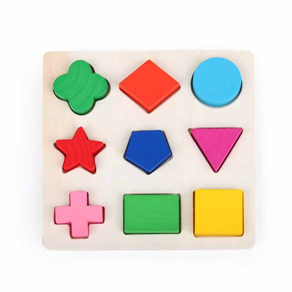 Baby Recognition Color Shape Logic Learning Intelligence Toys Wooden Geometric Blocks Matching Building Blocks Educational Gift
