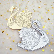 ZhuoAng Swan greeting card Cutting mold DIY scrapbook album decoration supplies clear seal paper