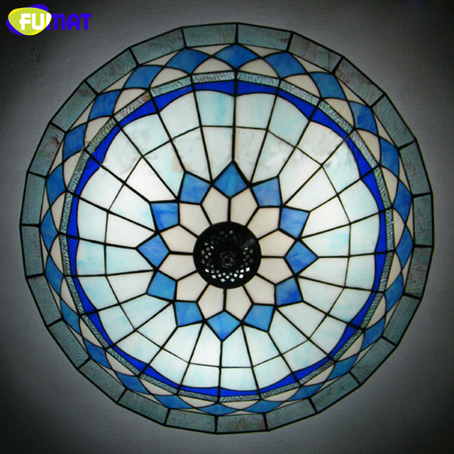 FUMAT Glass Ceiling Light Brief Minimalist Stained Glass Ceiling Lightings For Bed Room Dining Room Kitchen LED Art Ceiling Lamp