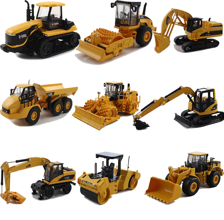 1:64 C-Cool Excavetor Tractor Soil Compactor Diecast Model Engineering Vehicle