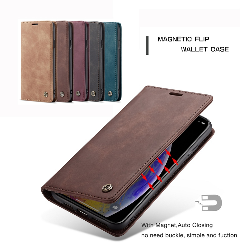 Leather Wallet Flip Case for iPhone X XR XS Max Case Kickstand Magnetic Phone Cover Fundas for iPhone 7 6s 6 8 Plus Case Coque