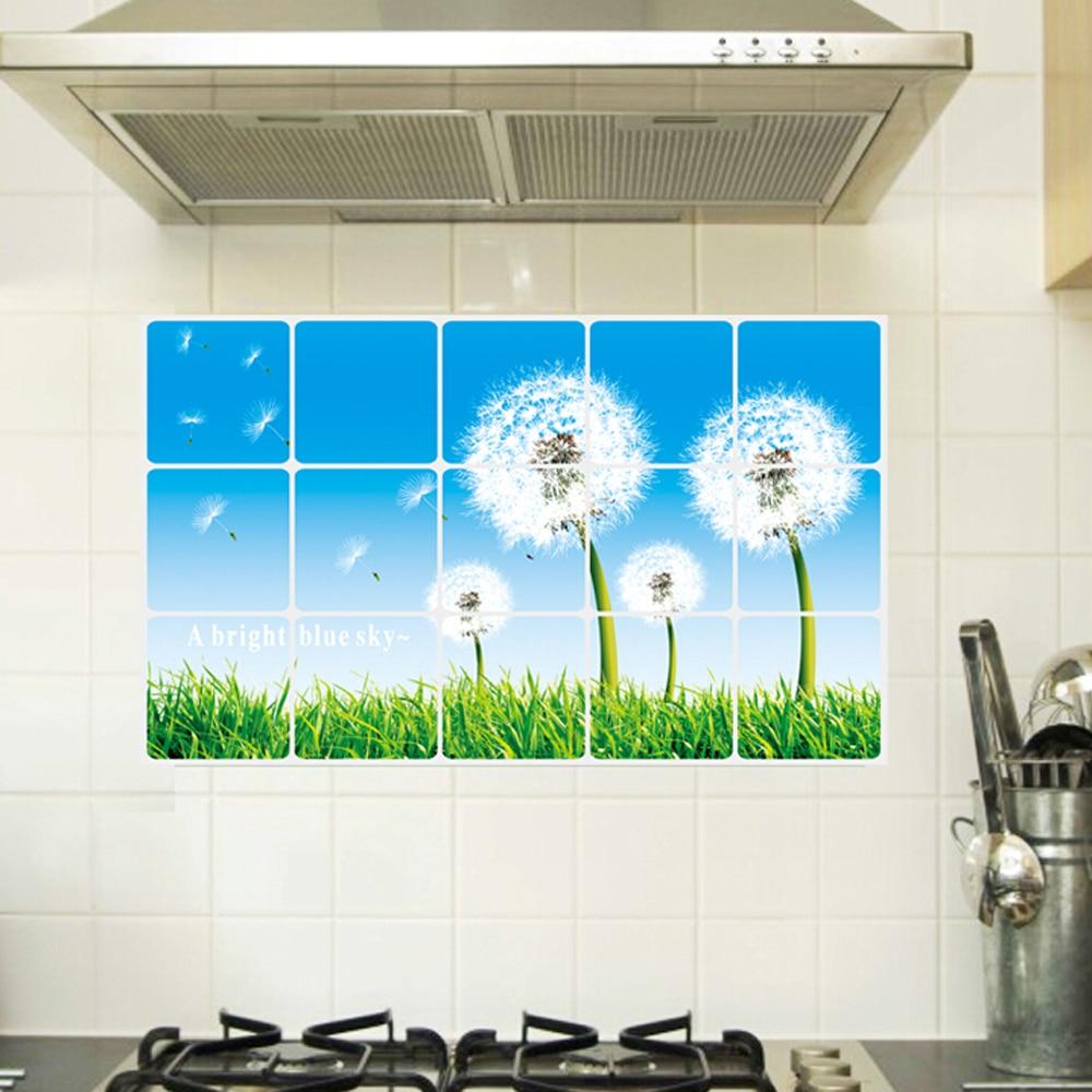 Free shipping Cheap removable 3d dandelion font b kitchen b font font b wall b font