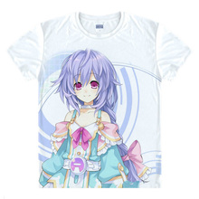 Hyperdimenion Neptunia Camiseta colorida camisetas Anime camiseta de Impresión Para Mujer Camisetas Cosplay
