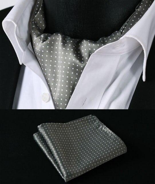 Rd103w хаки белый горошек шелковый галстук тканые Ascot галстук карманный площадь платок костюм комплект