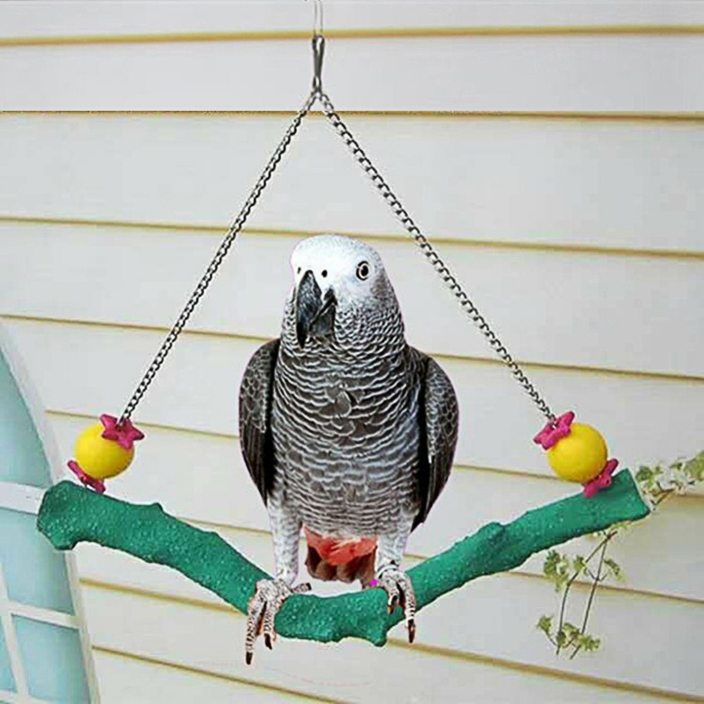 Birds Swings Pet Parrot Swing Cage Toy Bird Chewing Toys Standing Perch Rack Hammock Parakeet Budgie Bite Toy