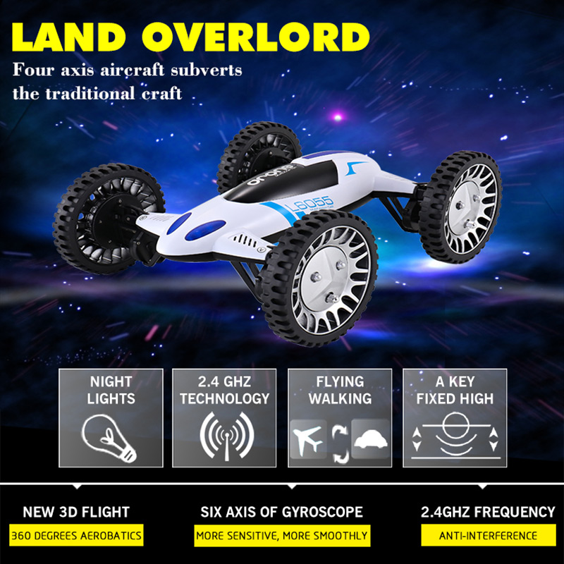 Flying Car Quadrocopter 2.4G 4CH 6-Axis Land / Sky 2 in 1 Racing Drone Remote Control Helicopter