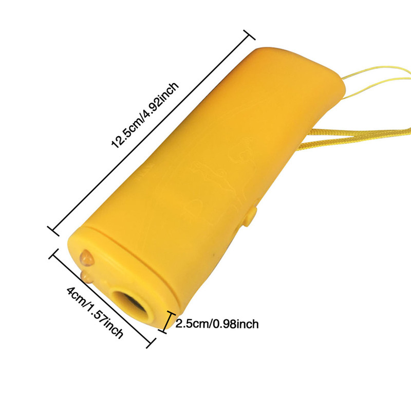Pet Dog Repeller Anti Barking Training Device LED Ultrasonic 3 in 1 Stop Bark Trainer Without Battery02