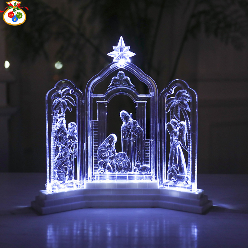 High Quality European Table Light Christian Novelty Atmosphere Lamp Led Night Bedroom Living Room Decor Lights Decoration Home