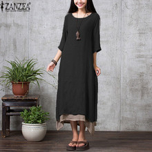 ZANZEA Spring Long Vestidos