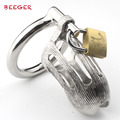 """Metal chastity Cage length 58mm(2.2""""), Stainless Steel Chastity Cage for male"""
