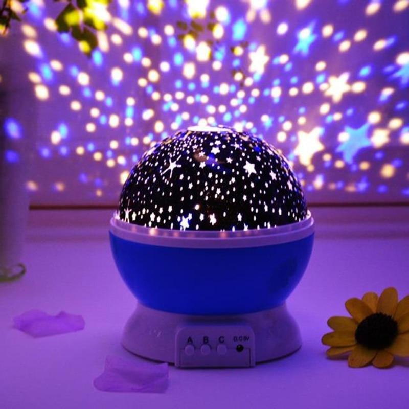 Novelty Luminous Light-Up Fun Toys Starry Sky LED Night Light Projector Baby Kids Room Sleep Lamp BirthdayXmas Gift For Child (2)