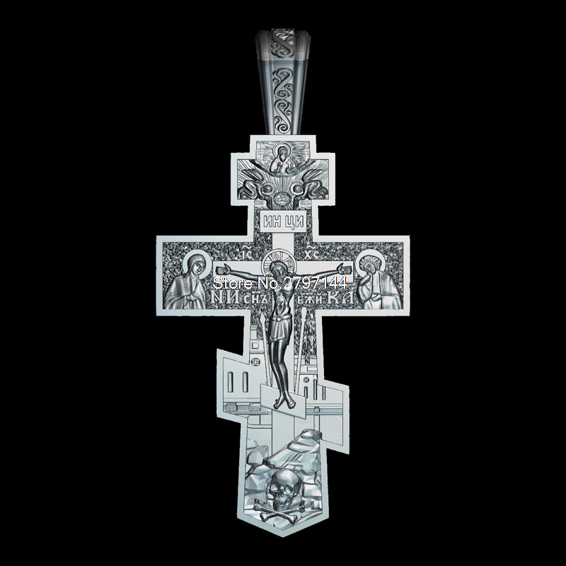 Crucifix 3D Model Relief Figure STL Format Religion 3d Model Relief  For Cnc In STL File Format