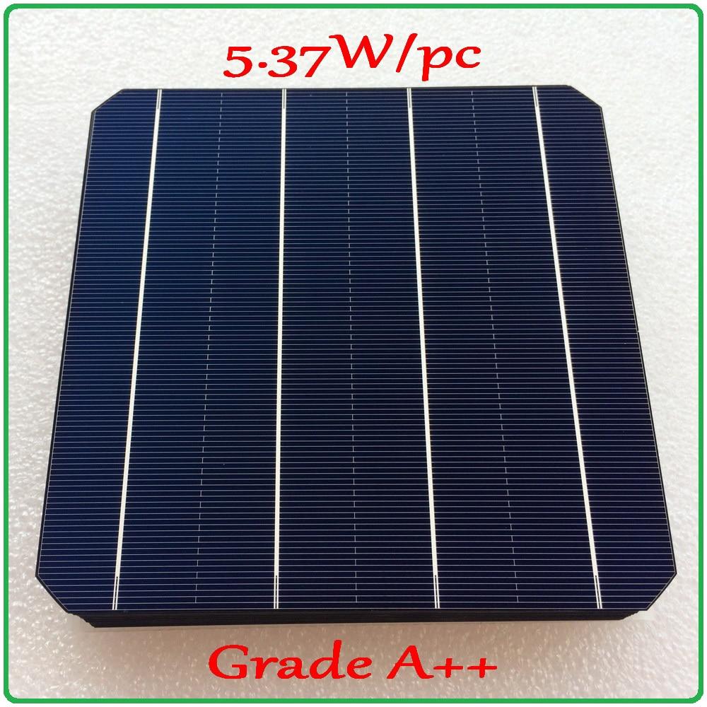 solar cell panel 21 6 high efficiency A grade 156mm 4BB monocrystalline solar cell 5 37W