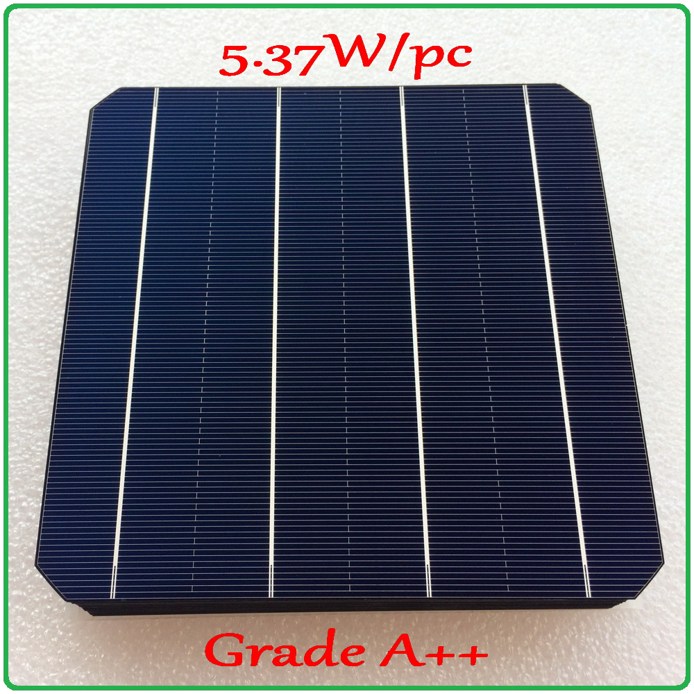 solar cell panel 21.6% high efficiency A grade 156mm 4BB monocrystalline solar cell 5.37W/pc enough power Mono Solar Cell-in Solar Cells from Consumer Electronics    1