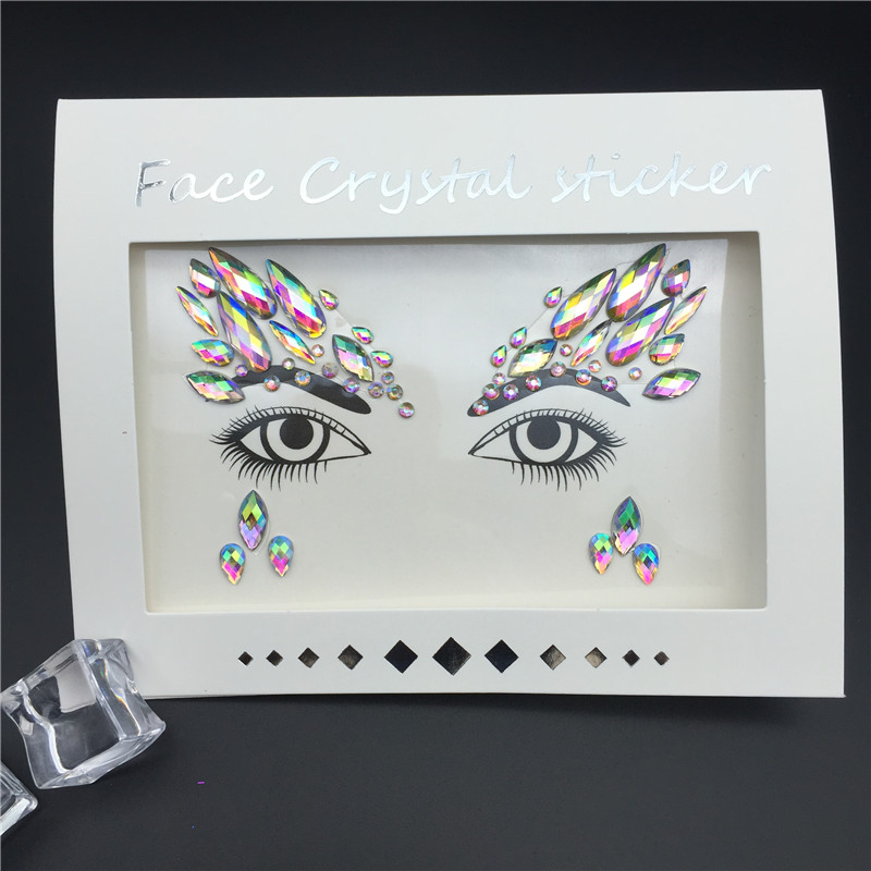 Temporary Rhinestone Tattoo Stickers Face Jewels Gems Festival Party Makeup Body Art Gems Flash Tattoo Sticker Stage Make Up NEW