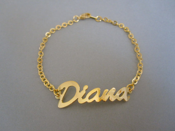 Custom Name Bracelet Personalized Gold Customized Jewelry In Chain Link Bracelets From Accessories On