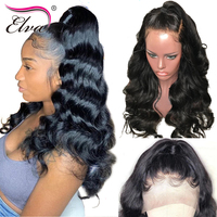 Elva Hair 180% Density 360 Lace Frontal Wig Pre Plucked With Baby Hair 10 22 Body Wave Natural Color Brazilian Remy Hair Wigs