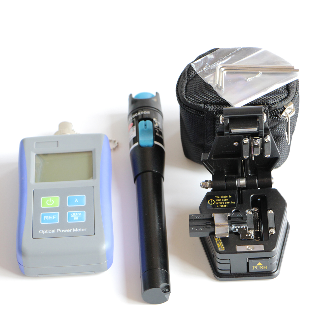 10mW Visual Fault Locator Fiber Optic Cable Teste Optical Fiber Power Meter 70dBm 10dBm Fiber Cleaver