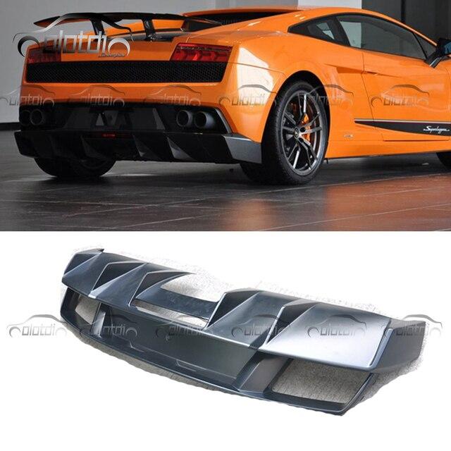 Car Styling Black Frp Fiberglass Rear Bumper Protector Diffuser Lip