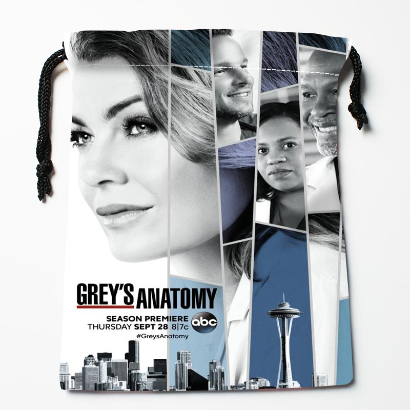 New Custom Grey's Anatomy Bags Custom Drawstring Bag Printed Gift Bags 27x35cm Compression Type Bags