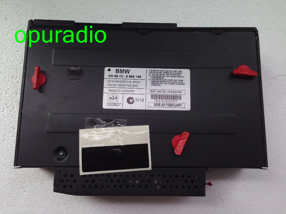 US $99 0 |Original BMNW NO  65 12 6958198 6 CD Changer 2 3L MOST for  Wechsler car CD radio-in Car CD Player from Automobiles & Motorcycles on