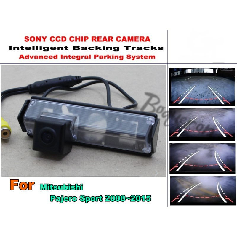 f6f6955d64 For Mitsubishi Pajero Sport Dark 2008 - 2017 Intelligent Car Parking Camera    with Tracks Module Rear CCD Night Vision