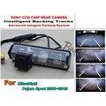 Para mitsubishi pajero sport 2008 ~ 2015 inteligente câmera de estacionamento/com faixas módulo câmera traseira visão ccd noite