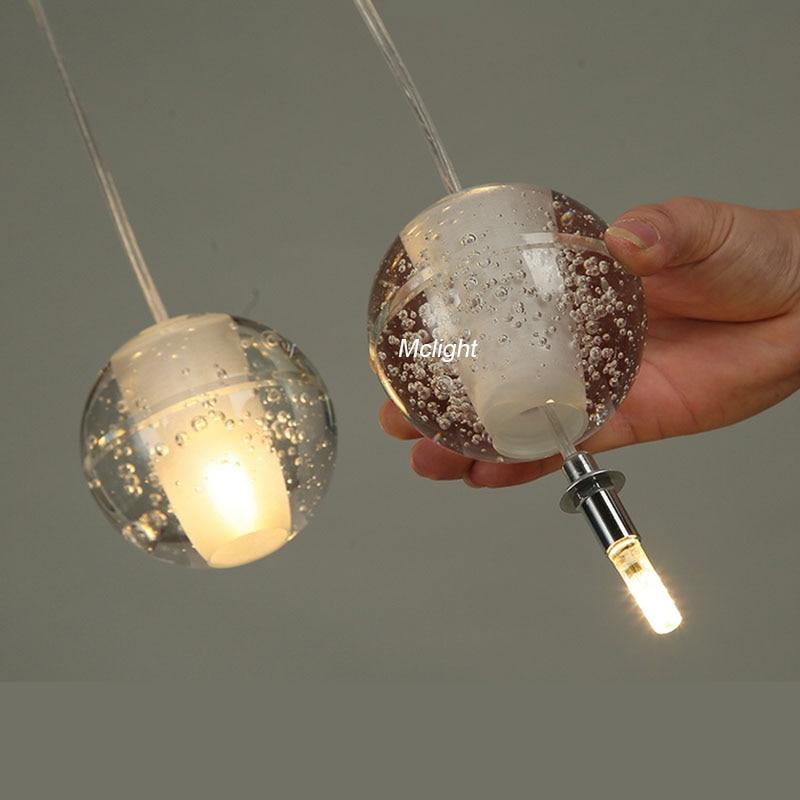 Favorite Modern Magic Ball Led Crystal Bubble Glass Pendant Light For  WK56