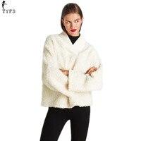 New Arrival Lamb Wool Pullover Loose Coats Women V Neck Long Sleeve Warm Autumn Winter Tops