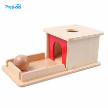 Montessori Infant Kids Toy Baby Wood Permanent Goal Box Learning Educa