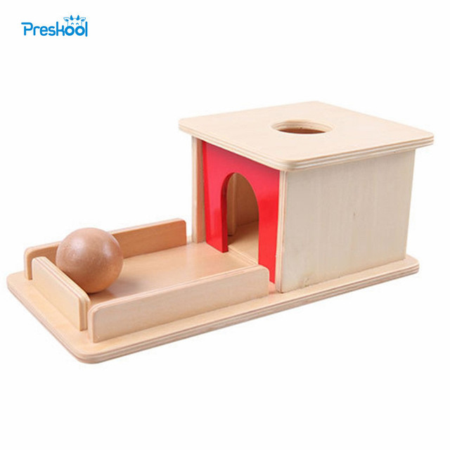 Montessori Infant Kids Toy Baby Wood Permanent Goal Box Learning Educational Preschool Training Brinquedos Juguets 24 months