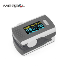 Finger Pulse Oximeter Electronic Heart Rate Monitor On Body Digital Tensiometer Physical Therapy Health Measuring Blue Device
