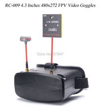 VR RC 009 4 3 Inches 480x272 FPV Video Goggles 5 8G 40CH Raceband Auto Searching