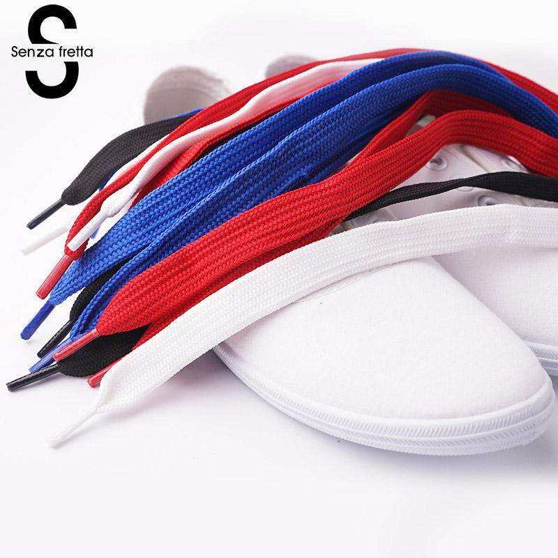 Senza Fretta 15mm Wide Flat Shoelaces Women Men Shoe Laces for Sneakers Sport Shoe Lace Unisex Leather Boots Canvas Lace Strings