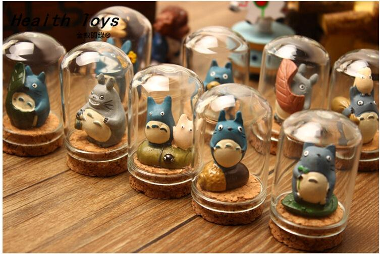 Creative clear glass resin Totoro Moss micro landscape glass bottles mini vials jars containers small vintage ornaments craft 100 pcs lot of small glass vials with cork tops 1 ml tiny bottles little empty jars