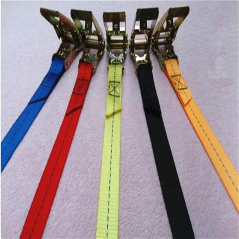 1 Pcs 5m Length 2.5cm Weight Car Tension Rope Ratchet Tie Luggage Strap Tied Durable Household Fastening Belt Safe Pull 800kg