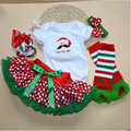 Feikebella Newborn  Baby Girl Clothing Set Infant Christmas Cothing Tutu Skirt Set 4 Pieces Christmas Clothes For Babies