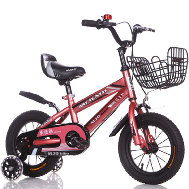 High-End Children's Bicycle 14-16-18 <font><b>Inches</b></font> Boys 'And Girls' Buggy 6 Years Old Mountain <font><b>Bike</b></font> Child Four-<font><b>Wheel</b></font> Bicycle image