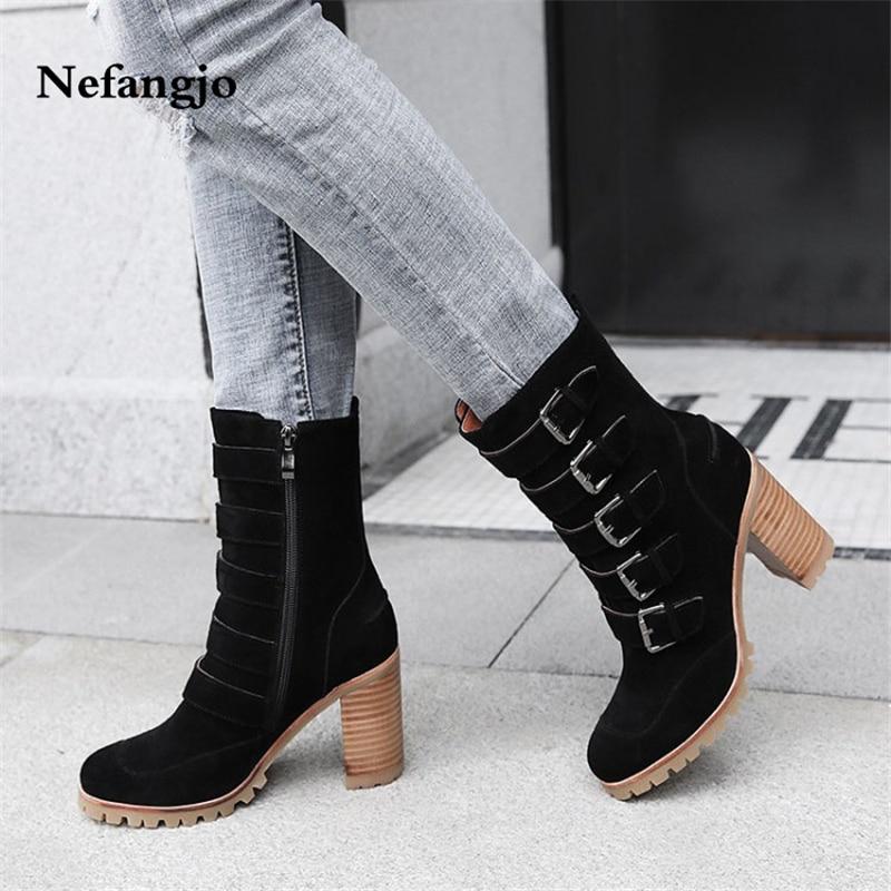 Celebrity Nefangjo Académie 2018 Chelsea noir Bottes clair Boot Chaussons pu Brit Beige marron Nouveau De bleu Web Martin Ciel Rénovation Femmes wFcncrfxIp