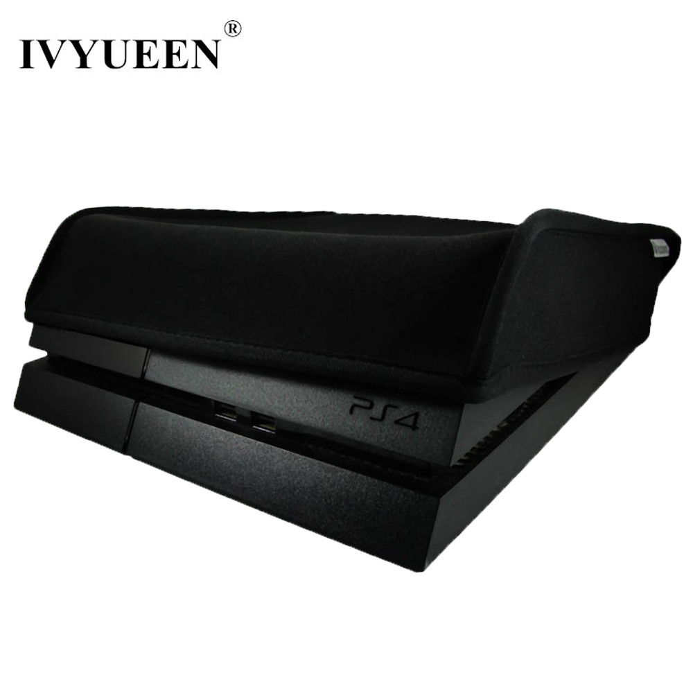 IVYUEEN Soft Dust Proof Cover til Sony Playstation 4 PS4 Console DustProof Neoprene Sleeve til Horizontal Place Dust Guard Cover