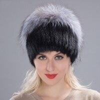 JKP Women's winter mink fur cap knit mink suit silver fox fur hat female Russian warm hat fashion women's fur cap 2018 DHY17 37