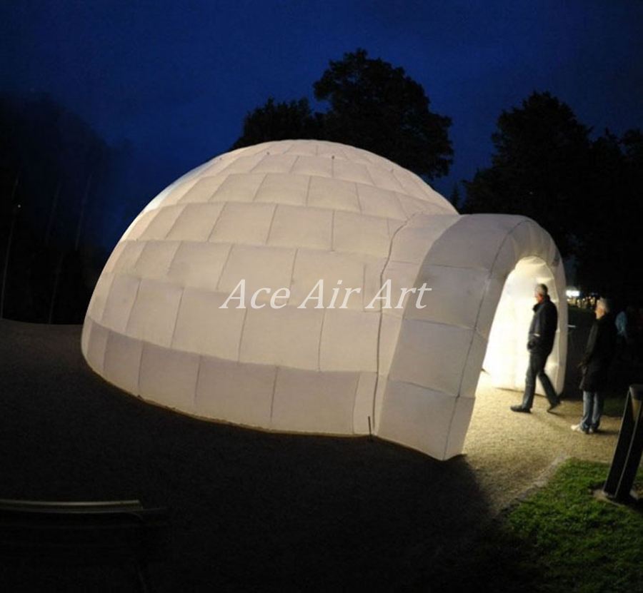 Hot sale Large giant white inflatable dome tent / Large Igloo Inflatable Tent for rental