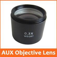 0.3X школьной лаборатории образования AUX вспомогательный объектив для стерео микроскоп барлоу вложений WD = 287 мм