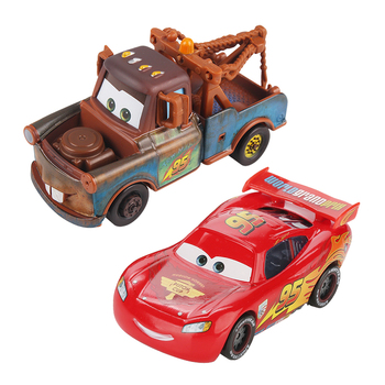 Disney Pixar Cars 2 Lightnig McQueen Mater Chick Hicks Francesco 1:55 Diecast Metal Alloy Car Model Birthday Gift Toy For Kid image