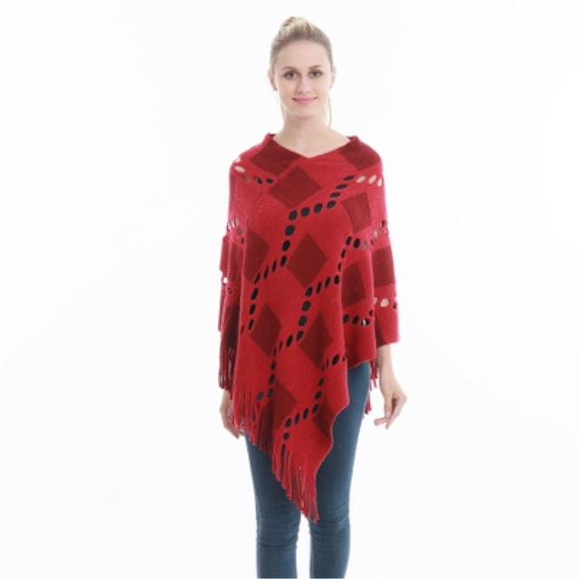 Spring Summer Women Hollow Out Sweater Knitted Tassel Shawl Poncho And Capes Ladies Long Size Cardigan Sweaters Coat 6