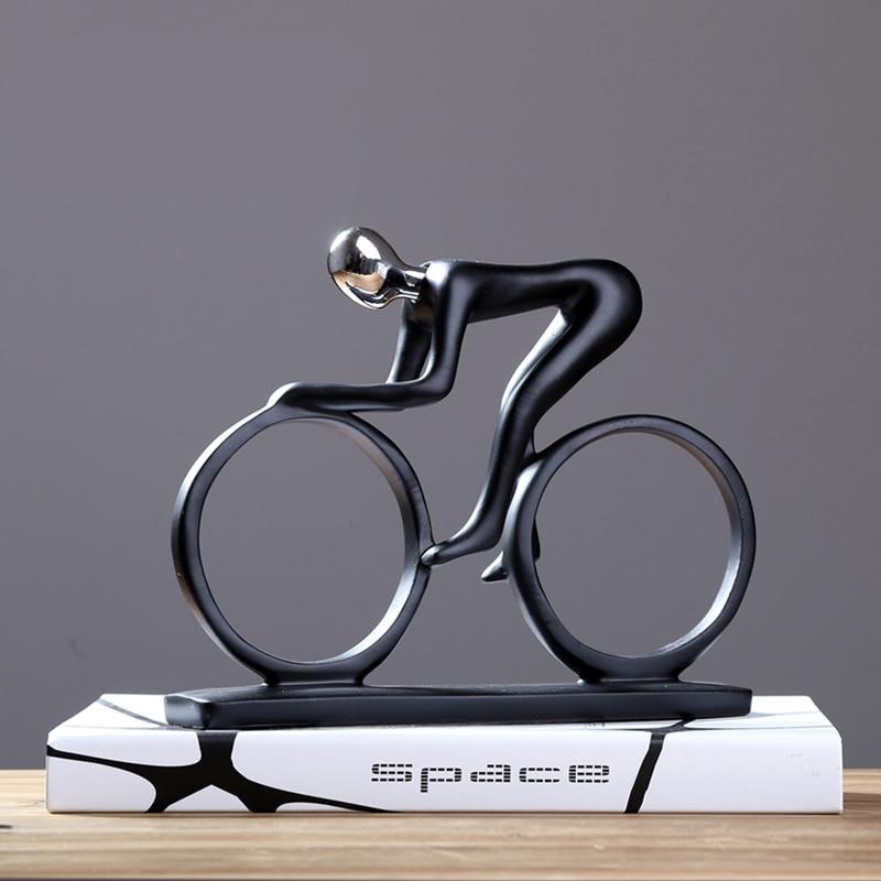 Abstrato decoração moderna simples resina criativo rider mobiliário doméstico escritório para sala de estar tv gabinete arte escultura figura