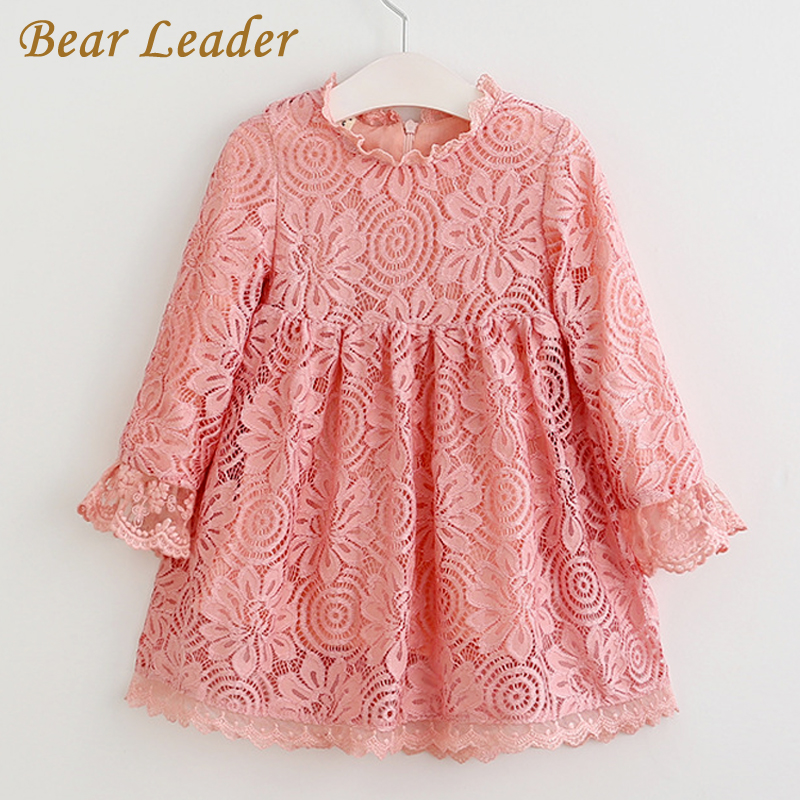 Bear Leader Girls Dress 2017 Autumn Brand Baby Girls Lace Petal Sleeve Blouse Flowers Kids Shirts Children Clothing Dress 2-7Y beautiful and pract fabric rear trunk security shield cargo cover black for toyota rav4 rav 4 2006 2007 2008 2009 2010 2011 2012