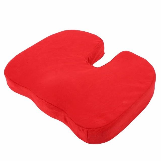 Universal Tampa Do Carro Sit Almofada da Esteira Proteger A Parte Inferior Das Costas Da Coluna Vertebral Protetor Almofada Do Assento Almofada do assento Protector Vermelho TOPS Cobertura Sit Mat
