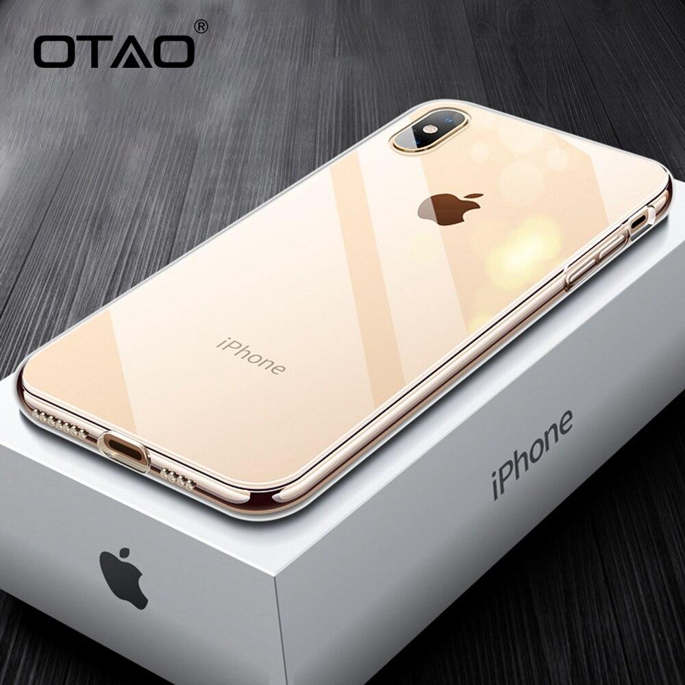 8b897bb8e0d OTAO funda de teléfono de vidrio templado para iphone XS MAX XR X 8 7 6 s Plus  fundas de Color degradado funda trasera suave TPU para Apple 10 Coque ~ Top  ...